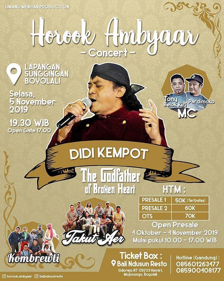 Konser Ambyar Didi Kempot Sunggingan Boyolali Promotion Your