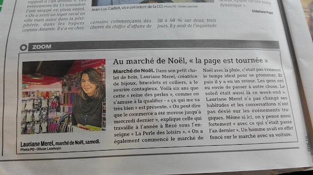 Marché de Noël, presse, interview, Nantes, Place royale, La perle des Loisirs