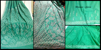chikankari saree,zari saree, lucknowi saree