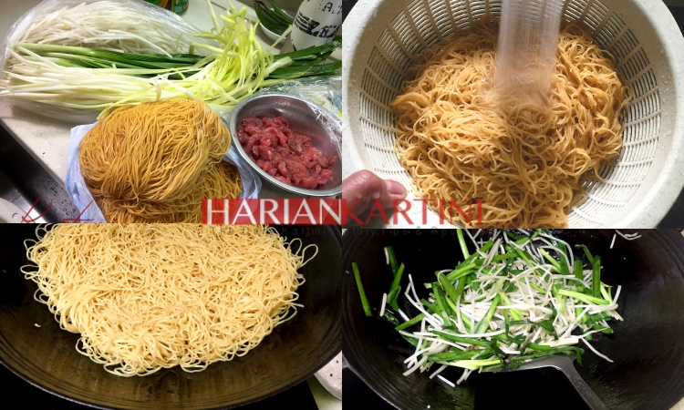Resep Cara Memasak Mie Telur Goreng 'Chow Mein' Saus Kecap Asin