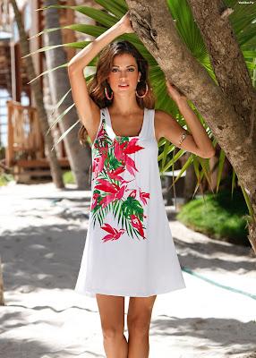 vestidos playeros blancos