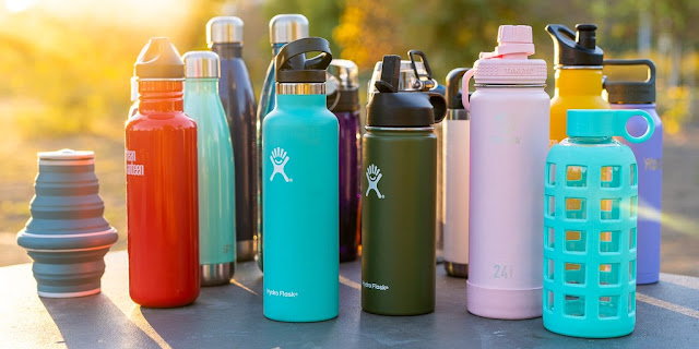 أفضل الزجاجات للمياه مع أكثر من 90 زجاجات اختبارها-Hydro Flask Stainless Steel Leak Proof Sports Water Bottle Wide Mouth With Free Flex Cap 32 Oz Double Wall Vacuum Insulated