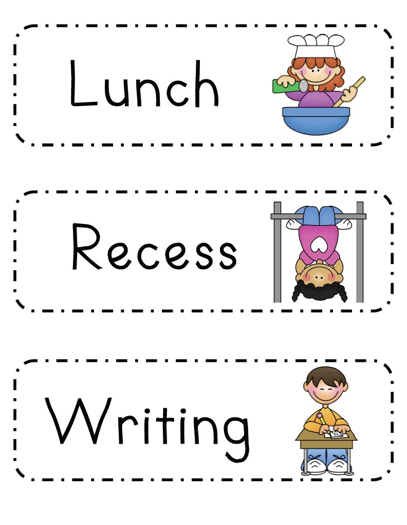 Mrs ricca 39 s kindergarten daily schedule freebie for Preschool classroom schedule template