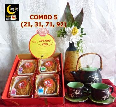 Hộp bánh trung thu Kinh Đô Sông Đáy Combo 5