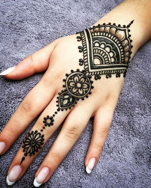 modern bridal mehndi,