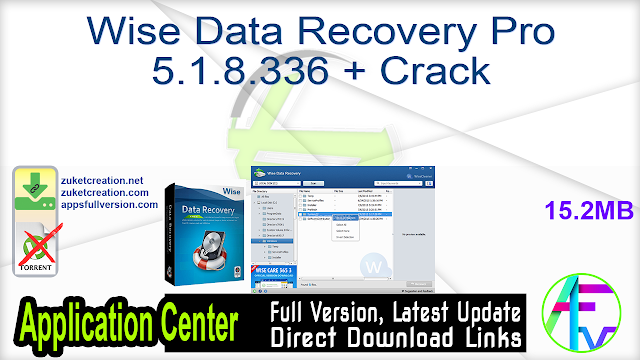 Wise Data Recovery Pro 5.1.8.336 + Crack