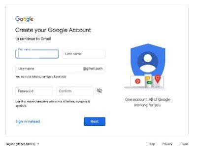 cara membuat gmail baru di pc