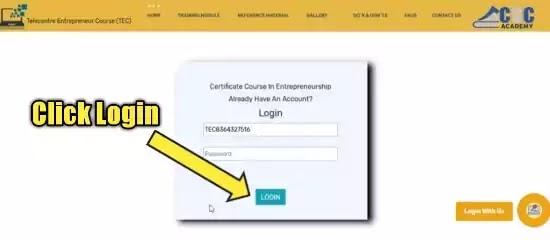 TEC certificate login