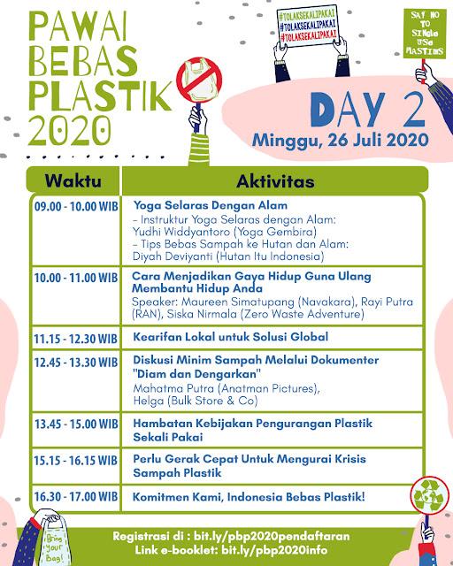 Hari 2 Pawai Bebas Plastik 2020