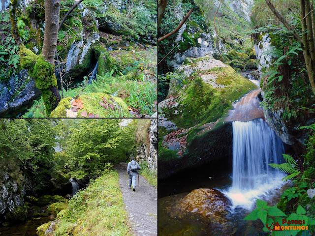 Desfiladero de Los Arrudos: Saltos de agua