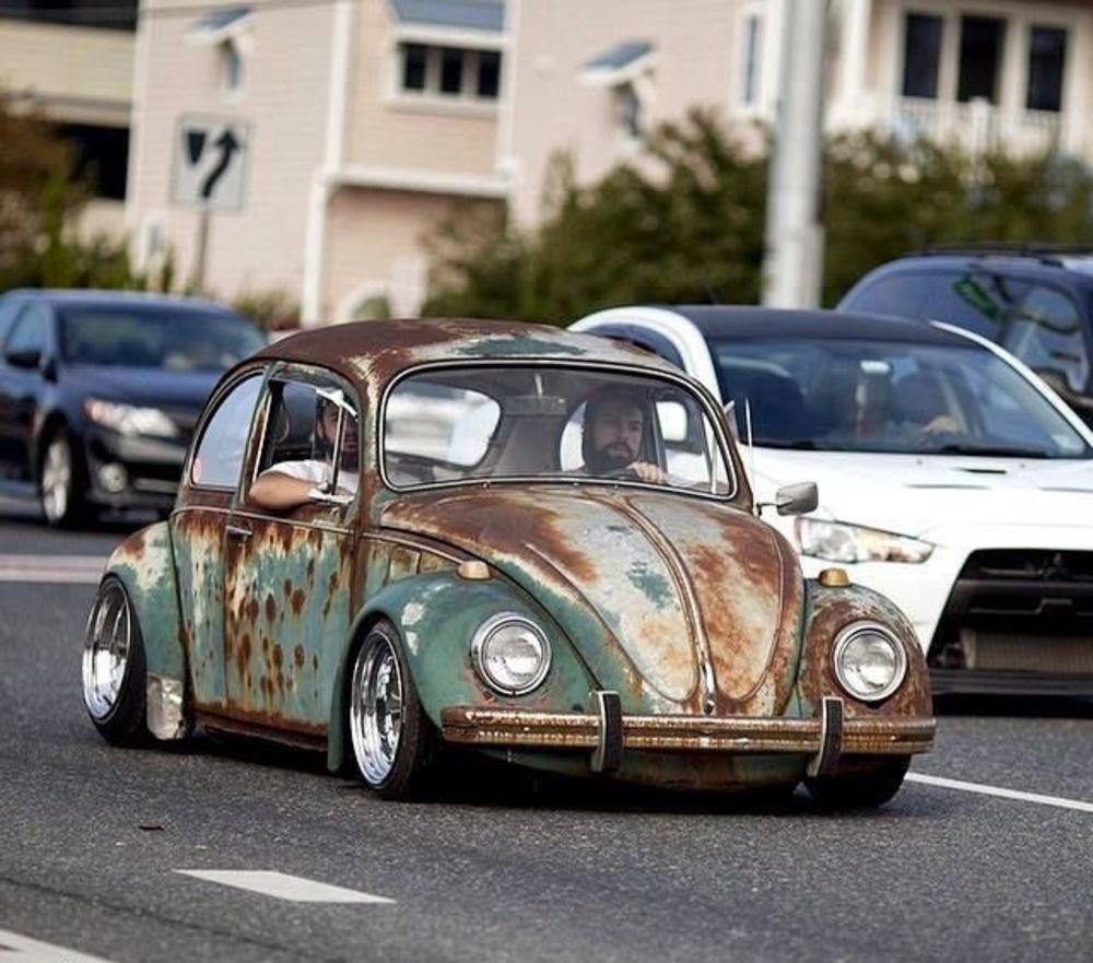20 best photos of volkswagen beetle rat rods with patina look on the streets vintage everyday