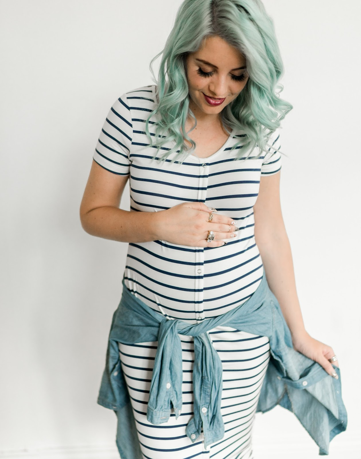 Stripes, Maternity Dress, Pregnancy Style