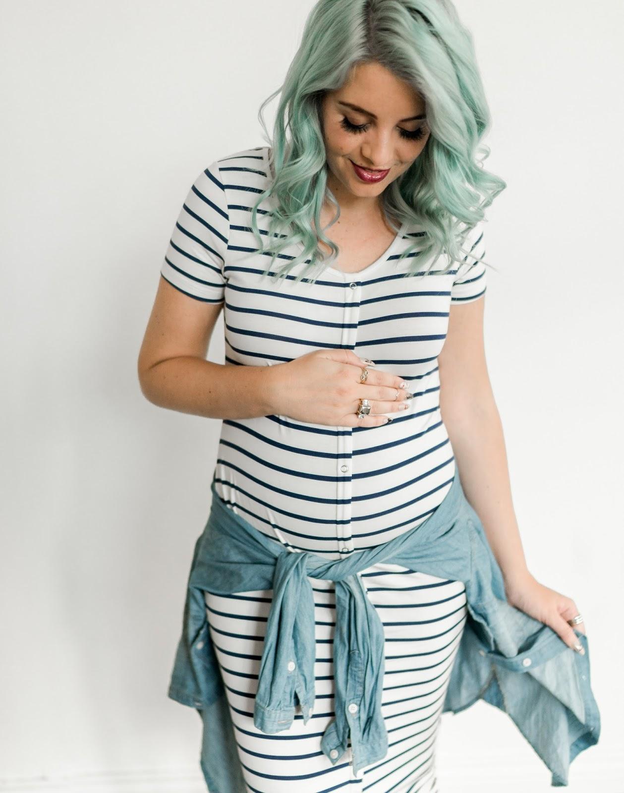 Stripes, Maternity Dress, Pregnancy Style