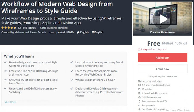 [100% Off] Workflow of Modern Web Design from Wireframes to Style Guide| Worth 199,99$