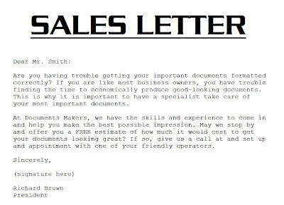 Sample Sales Letter 3000 Sales Letter Template