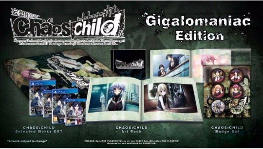 Actu Jeux Vidéo, CHAOS;CHILD, Collector, Playstation 4, Playstation Vita, PQube, Rice Digital, Visual Novel, Jeux Vidéo,