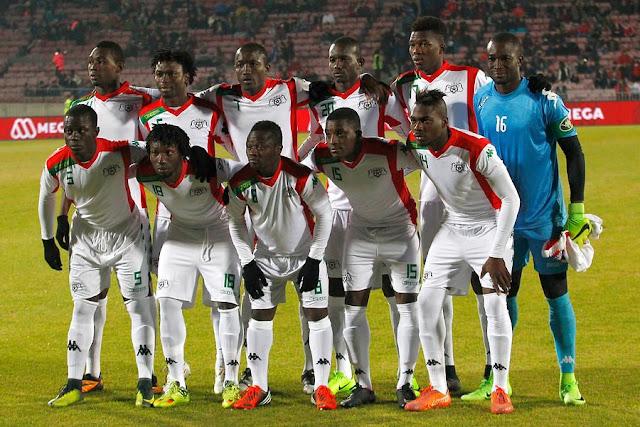Formación de Burkina Faso ante Chile, amistoso disputado el 2 de junio de 2017