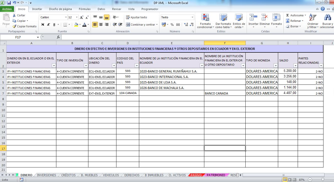 Excel y Empresa: ANEXO DECLARACIÓN PATRIMONIAL EXCEL