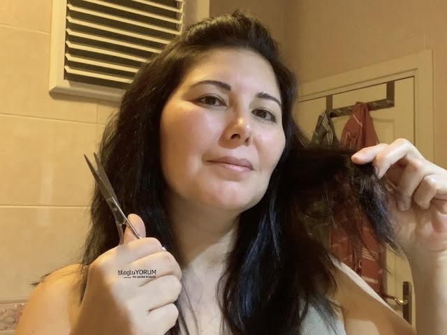evde pratik bob saç kesimi evde katlı saç kesimi