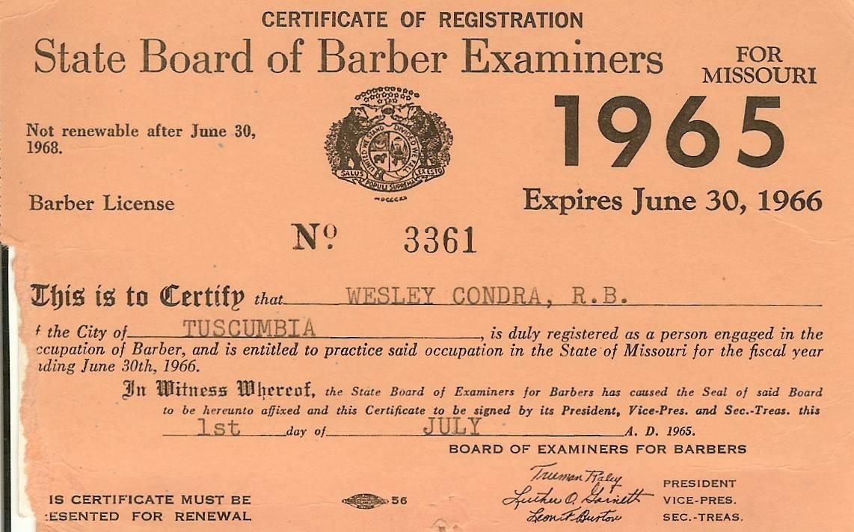 Barber Necklace Galleries Barber License