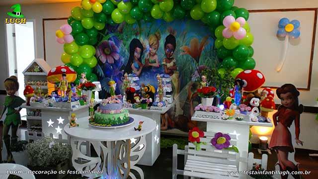 Decoração provençal tema da Tinker Bell - Festa de aniversário infantil feminino