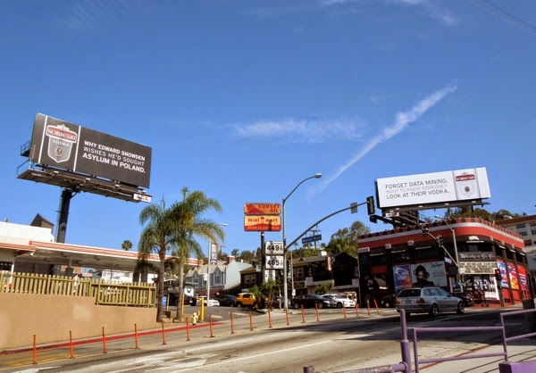 Sobieski Vodka 2014 billboards Sunset Strip