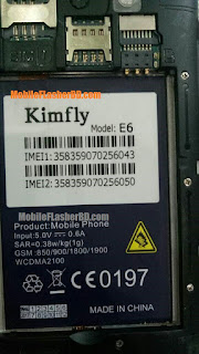 Download Kimfly E6 MTK6572 Firmware ROM Official Flash File Without Password Free By Jonaki Telecom