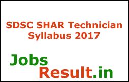 SDSC SHAR Technician Syllabus 2017