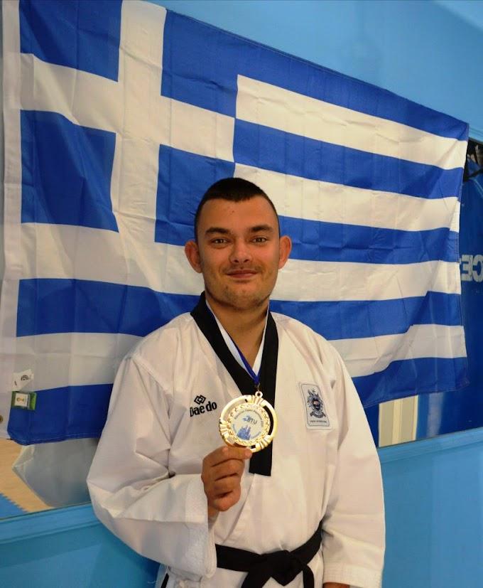 2 νέα χρυσά μετάλλια για το Ελληνικό Para-Taekwondo κατέκτησε ο Βασίλης Αβραμίκας