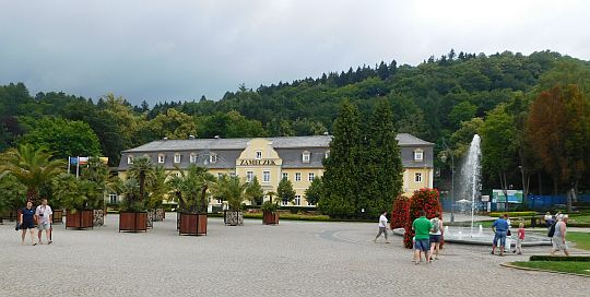 """""""Zameczek"""", XVII-wieczny dom gościnny dla kuracjuszy, a obecnie szpital uzdrowiskowy."""