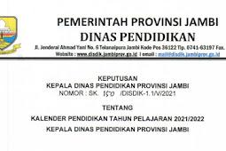 Kalender Pendidikan (Kaldik) 2021/2022 Jambi (PDF)