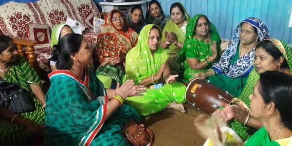 खम्मा म्हारा नंदजी ना लाल, हीचको सोनों घड्यो- भजनों के साथ राजपूत महिला मंडल ने मनाया हरियाली अमावस्या महोत्सव