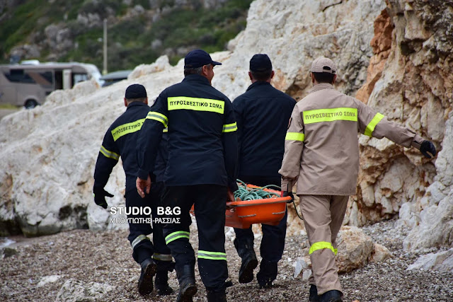 Αργολίδα: ΙΧ έπεσε σε γκρεμό  στην περιοχή Κονδύλι Ναυπλίου - Νεκρός ο οδηγός του (βίντεο)