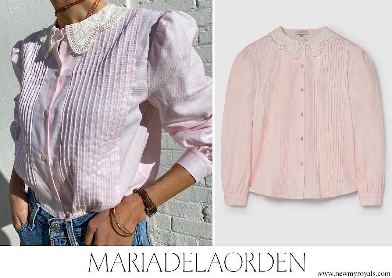 Crown Princess Mette Marit wore Maria de la Orden Bloom Shirt