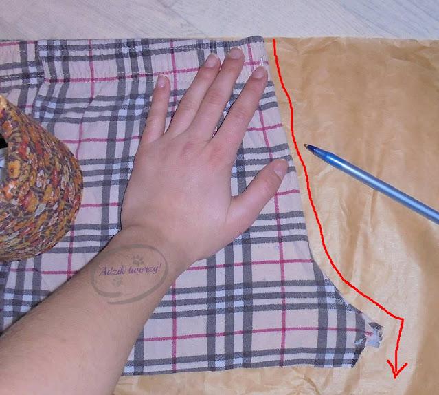wykrój na spodnie DIY jak zrobić - Adzik tworzy
