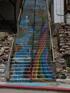A photo of stairs in downtown Eureka Springs