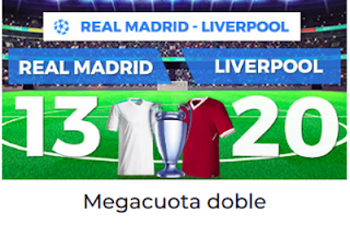 Paston Megacuota Champions Real Madrid vs Liverpool 26 mayo