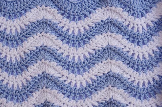 1 - Crochet Puntada ondas combinada a crochet y ganchillo por Majovel Crochet paso a paso