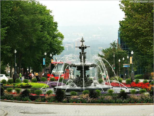 Fuente de Tourny en la Ciudad de Quebec