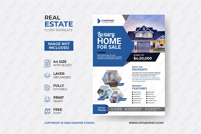 Creative Real Estate Flyer Template Free Download