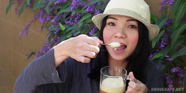 vietnam tarzı yumurtalı kahve yapımı kolay ve pratik - www.kahvekafe.net