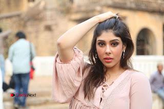 Telugu Actress Aditi Singh Stills in Leather Pants at Nenu Kidnap Iyanu Movie Press Meet  0261.JPG
