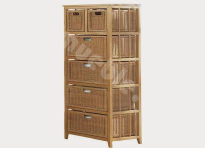 mueble cajonera hecho en madera maciza j678