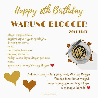 ultah ke 8 warung blogger