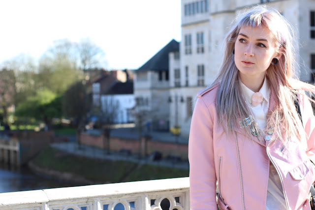Zara Pastel Pink Leather Jacket