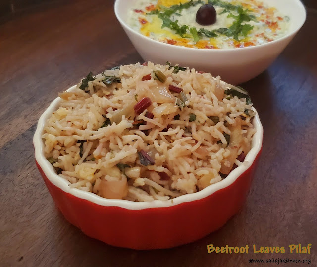 images of Beet Greens Rice / Beetroot Leaves Rice / Beetroot leaves Pilaf / Simple Beet Leaves Rice
