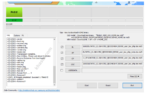 menambahkan file binary samsung a10s