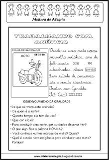 Trabalhando com anúncio de moto