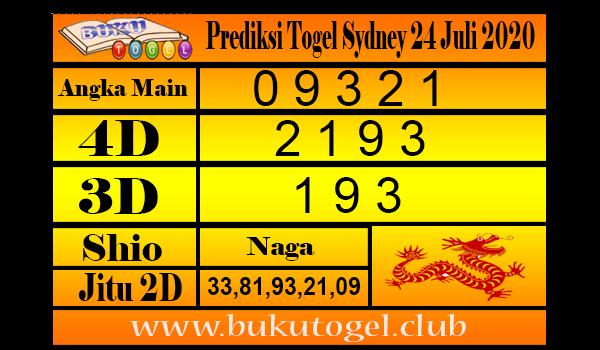 Prediksi Togel Sydney 24 Juli 2020