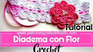 Diadema Crochet con Flor / Tutorial en español